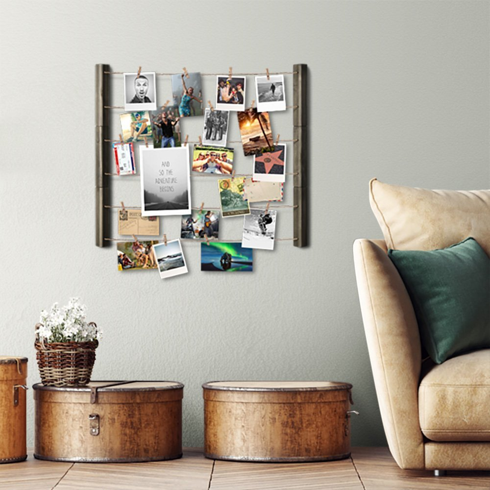 RooLee Hanging Picture Frame - Wood Picture Frame Collage for Wall ...
